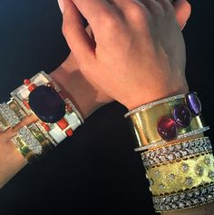 sothebysFrom Coco Chanel's iconic cross bangles to Jacqueline Kennedy Onassis' gold cuffs by @vancleefarpels, the #cuff was and still is a memorable #style statement. Stop by our York Avenue galleries this weekend to view a trove of cuffs that run the gamut of 20th-century creativity. Auction 21 April in #NYC. #ArmParty #SothebysJewels