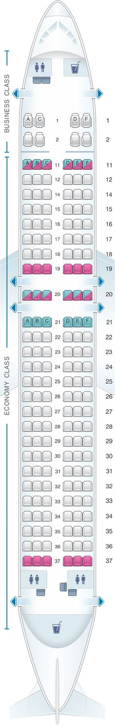 Seat Map Kingfisher Airlines Airbus A320 200 164PAX(A)