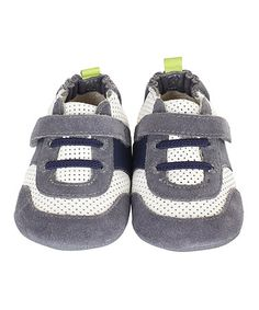 Take a look at this Gray & Blue Everyday Ethan Bootie by Robeez on #zulily today!