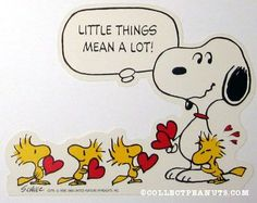Snoopy and Woodstocks with hearts