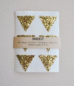 Gold glitter triangles for a Tri Delta
