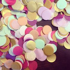 Tissue paper confetti by PomLove (in PDX!), $12.00...seriously IN.LOVE. with these colors!!