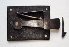 """Original Reclaimed & Restored Georgian """"Surrey"""" or Bow"""" Type Door Latch. Typically used on plank doors, although not exclusively."""