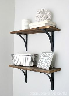 Rustic DIY Bathroom Shelving - Design, Dining + Diapers by aftr
