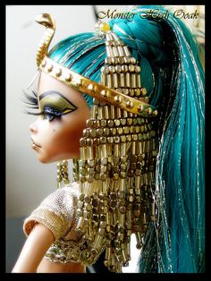 Great idea for a Halloween costume! Egyptian Goddes Monster High OOAK