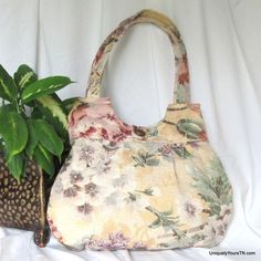 Inez Bag: Muted Floral from Uniquely Yours
