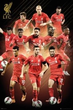 Liverpool FC Players 2015 2016 Soccer Football Sports Poster 24x36