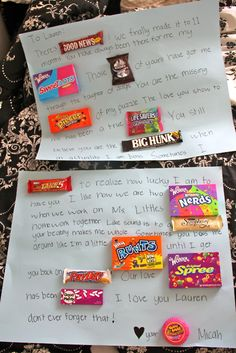 cute candy bar letter