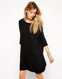Simple and easy T-shirt dress for those 'don't know what to wear' days in life. http://asos.to/1nQTE5v