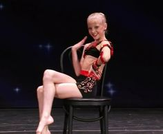 "Dance Moms Paige in her ""Tongue Twister"" solo"