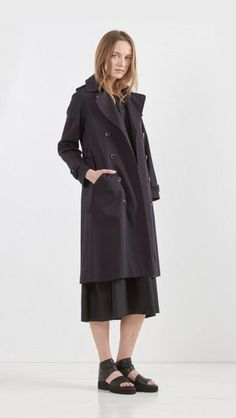 Double Breasted Greta Trench Coat by A.P.C.
