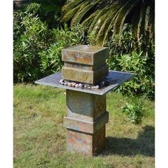 Shop for Phorcys 33-inch High With Natural Slate Finish Indoor/Outdoor Floor Fountain. Get free shipping at Overstock.com - Your Online Garden