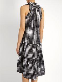 Gabriella Kamaria Moon-print silk dress | Figue | MATCHESFASHION.COM