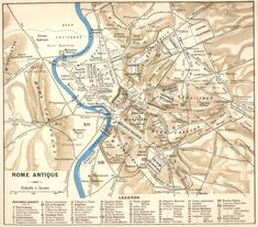 Map of Ancient Rome, the city of Rome