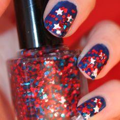 captain america inspired nail polish