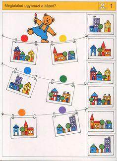 visuele discriminatie voor kleuters / preschool visual discrimination Visual Perception Activities, Brain Activities, Preschool Activities, Preschool Learning, Kindergarten Worksheets, Sequencing Cards, File Folder Activities, Lessons For Kids, Fun Math