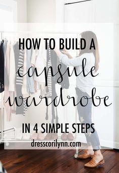 how to build a capsule wardrobe. - dress cori lynn