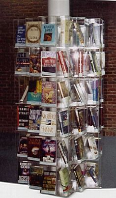 Library display shelving for books, paperbacks, newspapers, periodicals, A/V, audio & video tapes.  Our modular acrylic shelving used in tho...