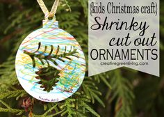 How to Make Shrink Film Christmas Ornaments - Perfect Kids Christmas Craft! ~ Creative Green Living
