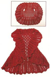Patrones+de+Tejido+Gratis+-+Chaleco+circular (free pattern for circular crocheted vest--instruction not English, but there are diagrams)these 12 crochet circular vest jacket patterns that are all inspired of bohemian fashion! These free crochet patte Crochet Bolero, Gilet Crochet, Crochet Jacket, Crochet Scarves, Crochet Clothes, Crochet Stitches, Knit Crochet, Crochet Shrugs, Crochet Woman