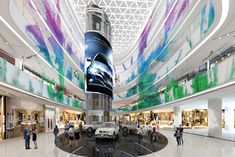 Deli Medan Mall. Medan, Indonesia. Main Atrium. Photography by DP Architects.