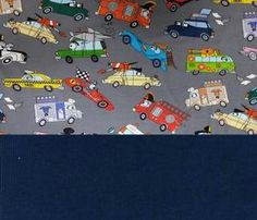 Set Jersey lustige Autos grau+Bündchen