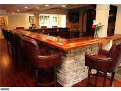 Love this #home #bar and its comfy leather seats