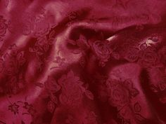 Brocade Jacquard Satin Burgundy 60 Inch Wide Fabric by The Yard from The Fabric Exchange Burgundy Aesthetic, Disney Princess Rapunzel, Flower Images, Arts And Crafts Supplies, Amazon Art, Sewing Stores, Satin, Yard, Floral