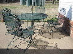 Wrought Iron Outdoor Furniture Painted Patio Home