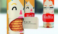 Blabber Mouth biscuit #packaging offers you the chance to empty their mouth in order to fill yours!