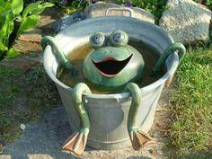 Frog in a washtub