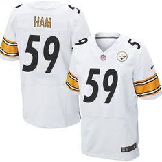 50605bda79c Jack Ham Men's Elite White Jersey: Nike NFL Pittsburgh Steelers Road #59