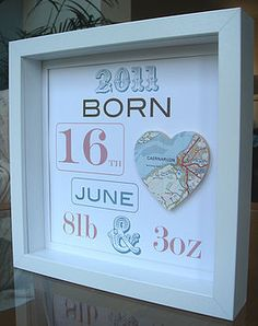 Personalised New Baby Map Picture