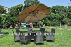 Reposteria y sillas muebles de ratán sintético exterior furniutre muebles del patio del metal de