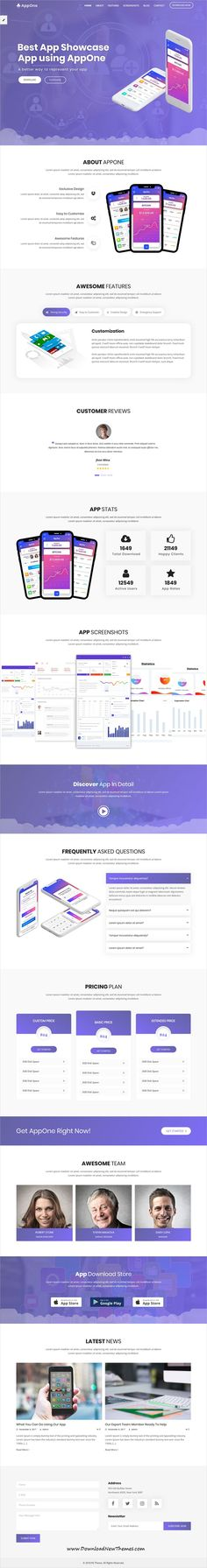 AppOne is a clean and modern design #responsive #WordPress #template for creative app showcase landing page #website with 12 unique homepage layouts to download & live preview click on image or Visit 🡽
