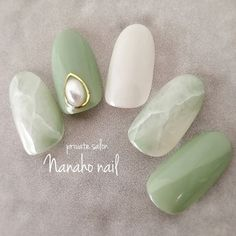 Heat Up Your Life with Some Stunning Summer Nail Art Gorgeous Nails, Love Nails, Pretty Nails, My Nails, Asian Nails, Korean Nails, Korean Nail Art, Marble Nail Designs, Nail Art Designs