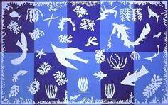 Matisse's Polinesia The Sea.  Gouache on paper cutout.