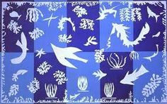 Matisse's Polinesia The Sea.  Gouache on paper cutout.