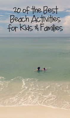 20 of the Best Beach Activities for Kids and Families - Bare Feet on the Dashboard Summer Fun, Summer Ideas Beach Vacation Tips, Beach Trip, Vacation Trips, Vacation Ideas, Beach Travel, Beach Camping, Vacation Pictures, Summer Travel, Beach Games