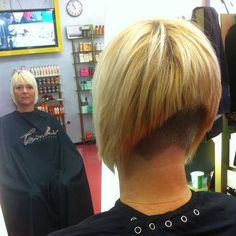 a line with buzzed nape