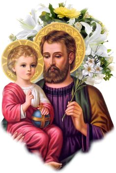 Joseph, foster-father of Jesus, pray for us! Religious Pictures, Jesus Pictures, Religious Art, Holly Pictures, Catholic Prayers, Catholic Saints, Patron Saints, Ste Therese, Jesus Father