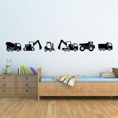 Car Vehicles Construction Wall sticker home decor Boys Kids Vinyl Room decals wall decoration wall mural wall art wallpaper-in Wall Stickers from Home & Garden on Aliexpress.com | Alibaba Group