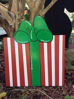 CHRISTMAS Yard art, Christmas decorations, Christmas yard decorations, garden art by samthecrafter on Etsy Art Christmas Presents, Christmas Lawn Decorations, Christmas Yard Art, Grinch Christmas, Christmas Wood, Christmas Signs, Outdoor Christmas, Christmas Holidays, Christmas Crafts
