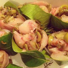 involtini di coniglio in foglie di limone