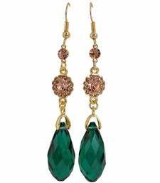 Buy Fantastic Green Bronze Designer Dangler Earrings danglers-drop online