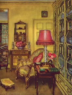 """A Yellow Room"" by W.B.E. Ranken"