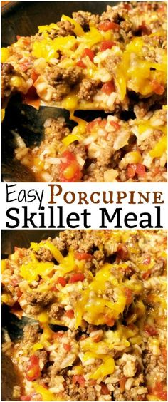 Easy Porcupine Skillet Meat | Aunt Bee's Recipes