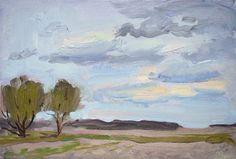 Fields, oil on board, 20 x 30 cm, (8″ x 12″),  #pleinairpainting  plein air oil painting