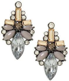 Sabine Clear Grey Drop Earring on shopstyle.com