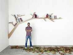 Oak Tree Bookshelf With Branches As Shelves